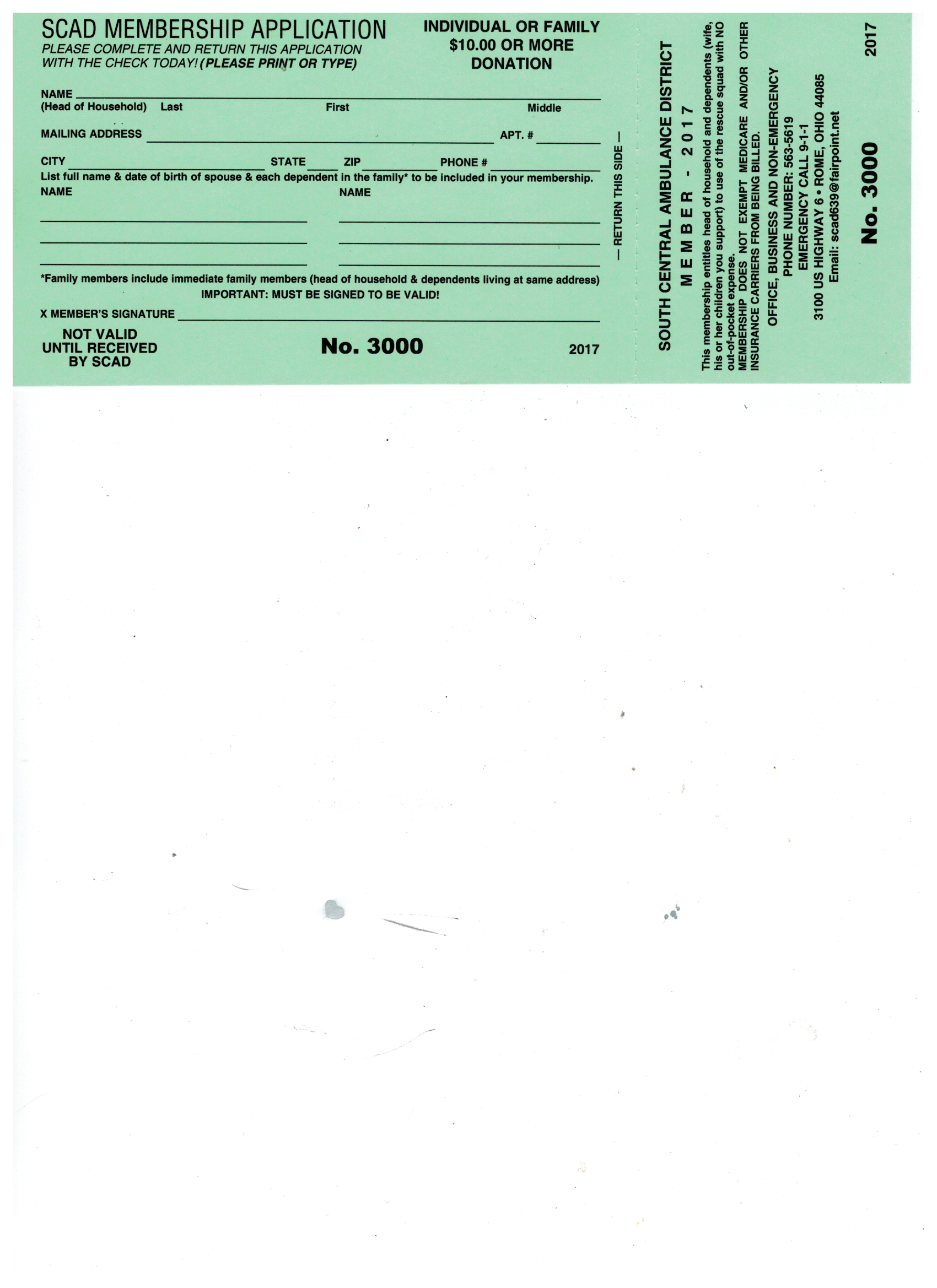 News and information south central ambulance district membership registrationrenewal card here xflitez Image collections